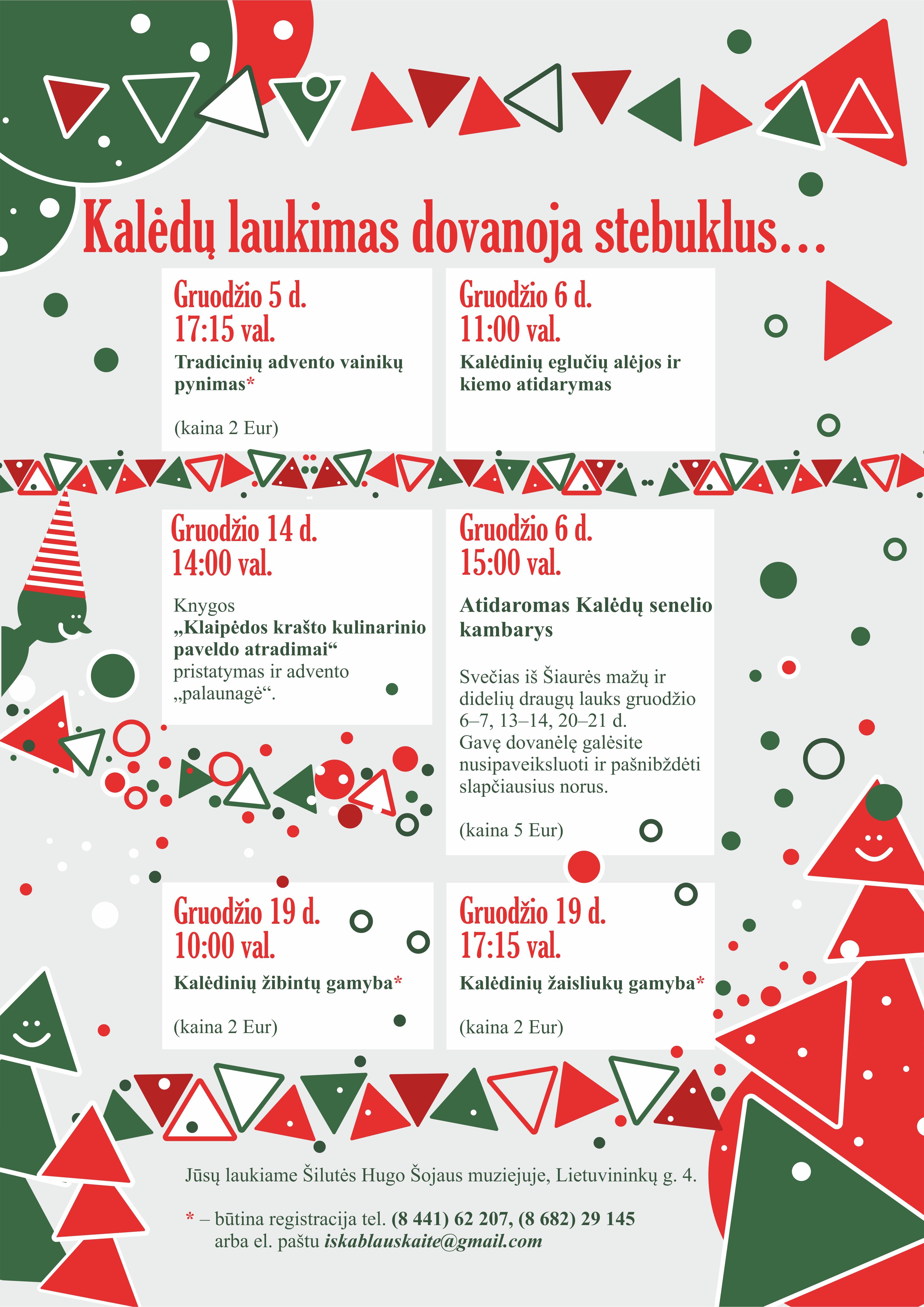 Kalėdiniai renginiai Šilutės Hugo Šojaus muziejuje