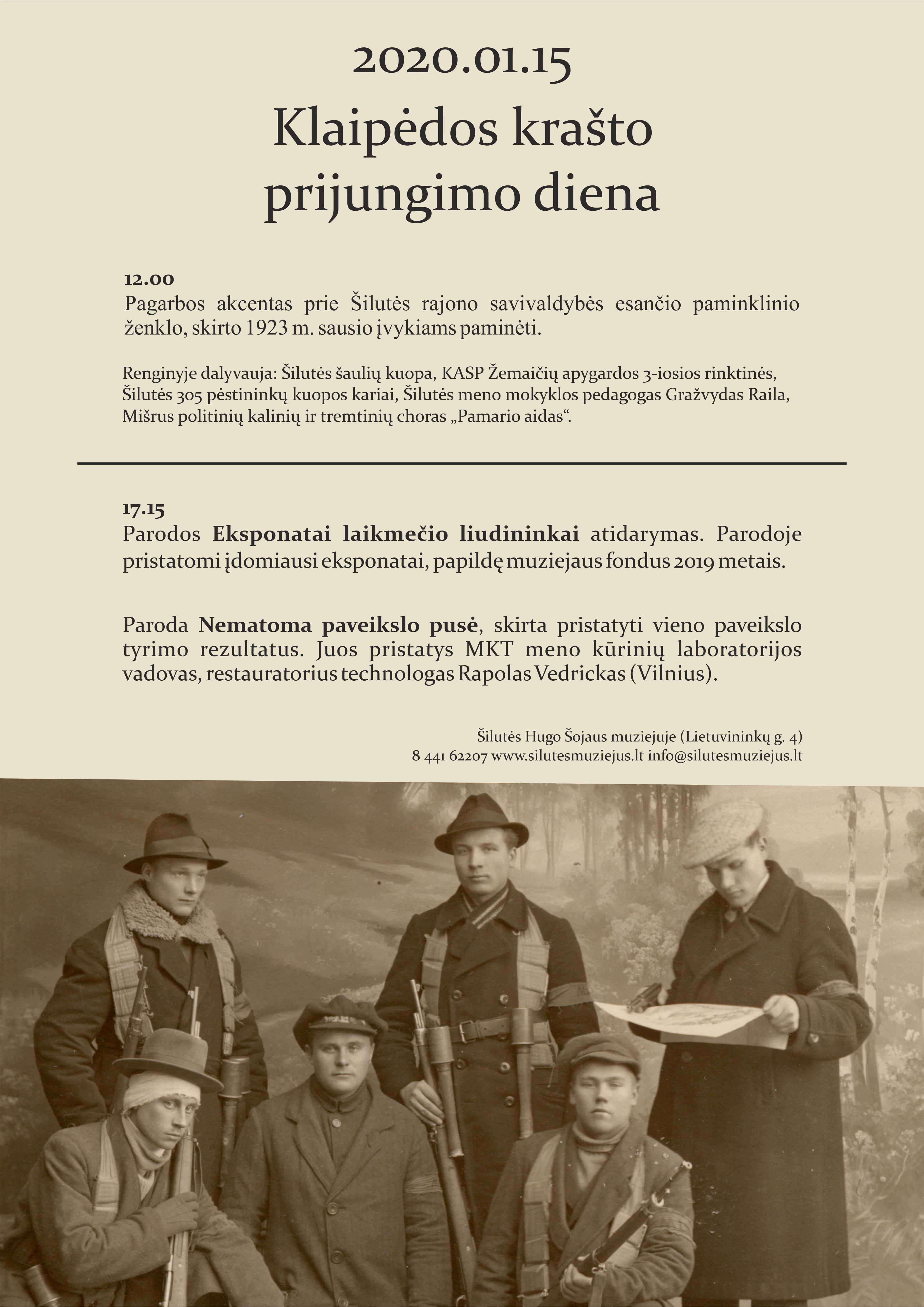 Minėsime Klaipėdos krašto prisijungimo dieną