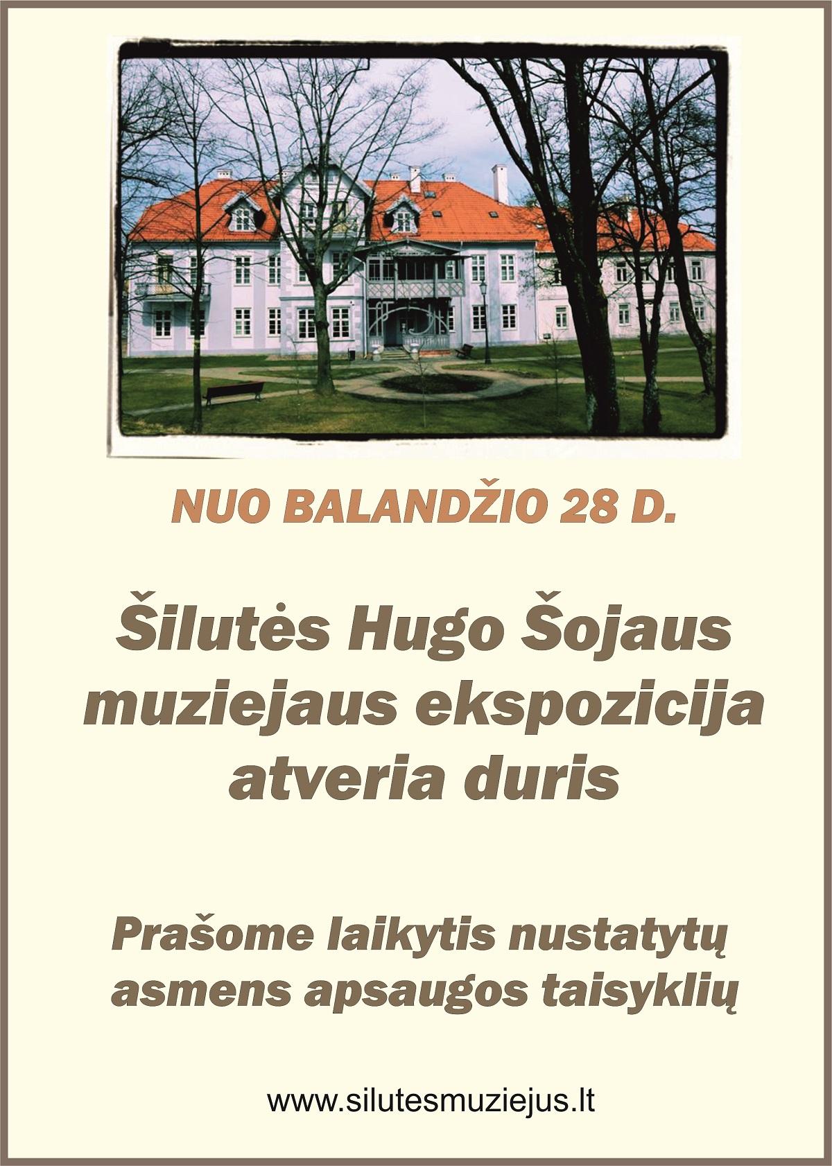 Šilutės Hugo Šojaus muziejaus ekspozicija atveria duris