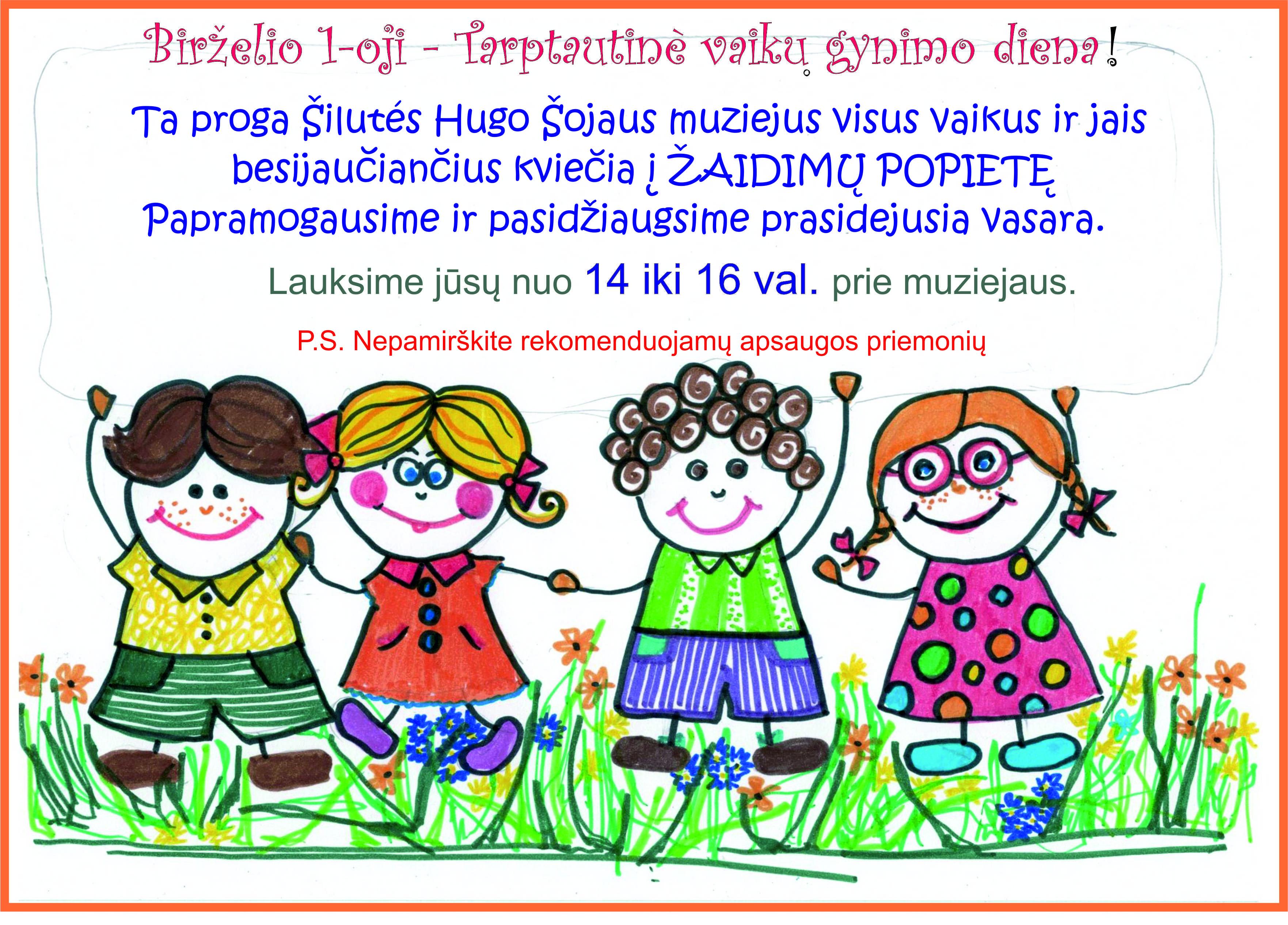 Birželio 1-oji – Tarptautinė vaikų gynimo diena!
