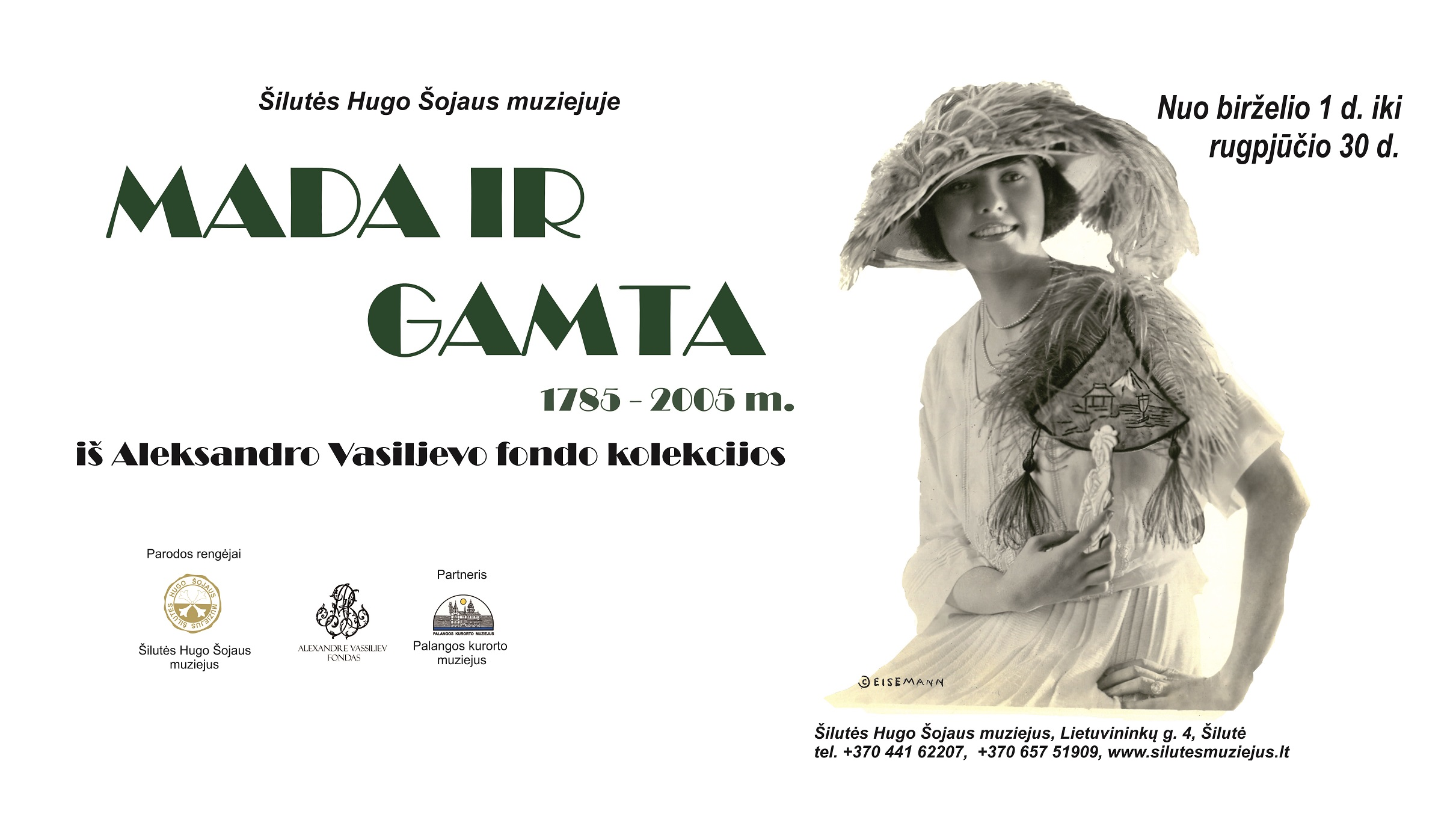 """Šilutės Hugo Šojaus muziejuje atidaroma paroda iš Aleksandro Vasiljevo fondo kolekcijos """"Mada ir gamta 1785–2005 m.""""."""