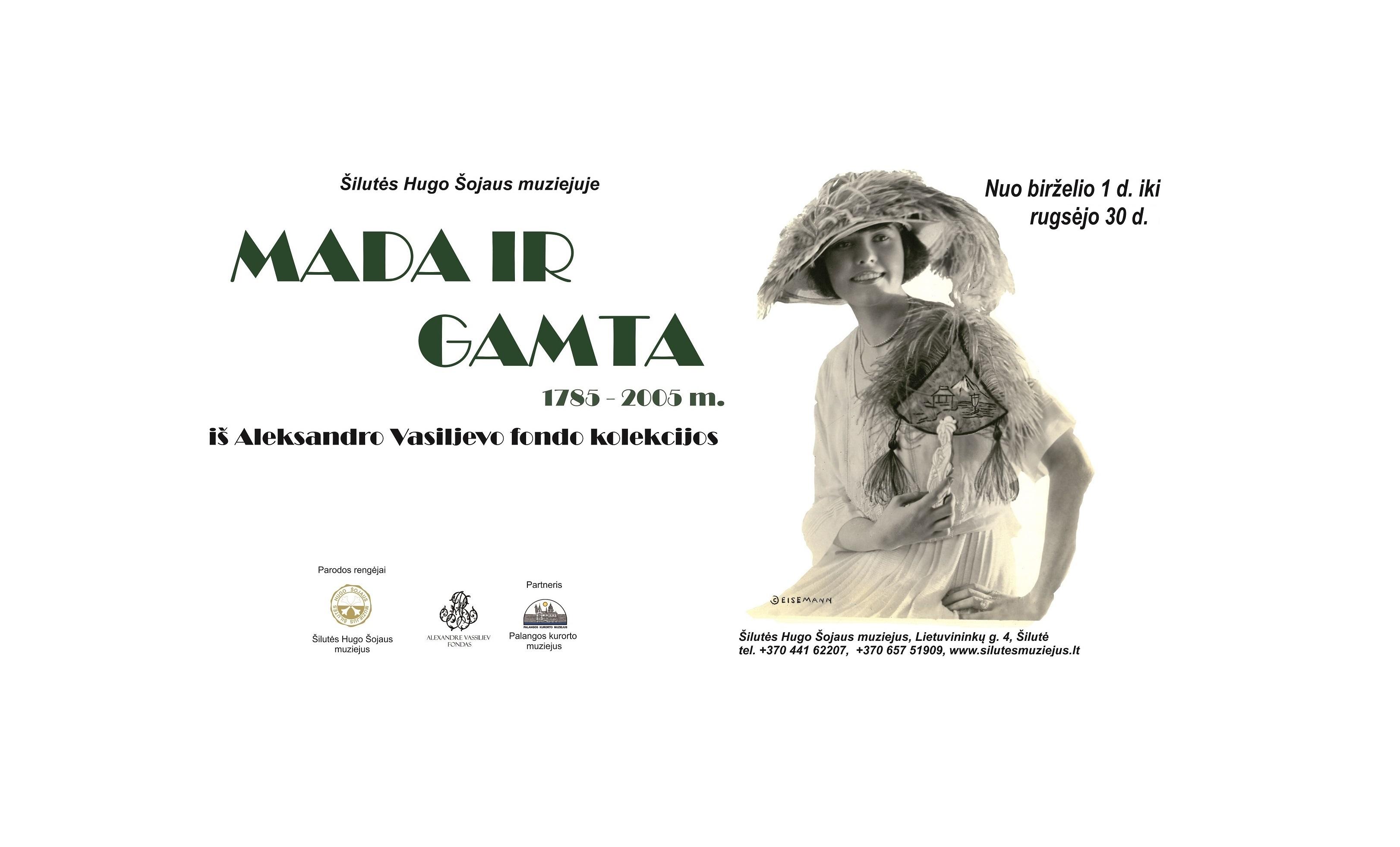 """Pratęsiamas parodos """"Mada ir gamta 1785-2005 m."""" iš Aleksandro Vasiljevo kolekcijos  eksponavimas"""