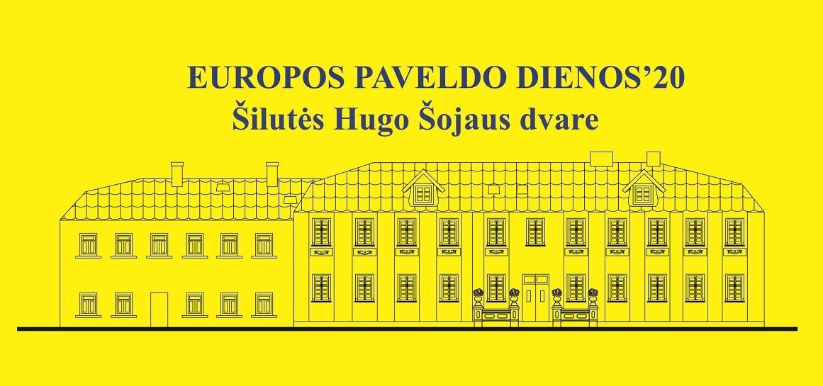 Europos paveldo dienos '20 Šilutės Hugo Šojaus dvare