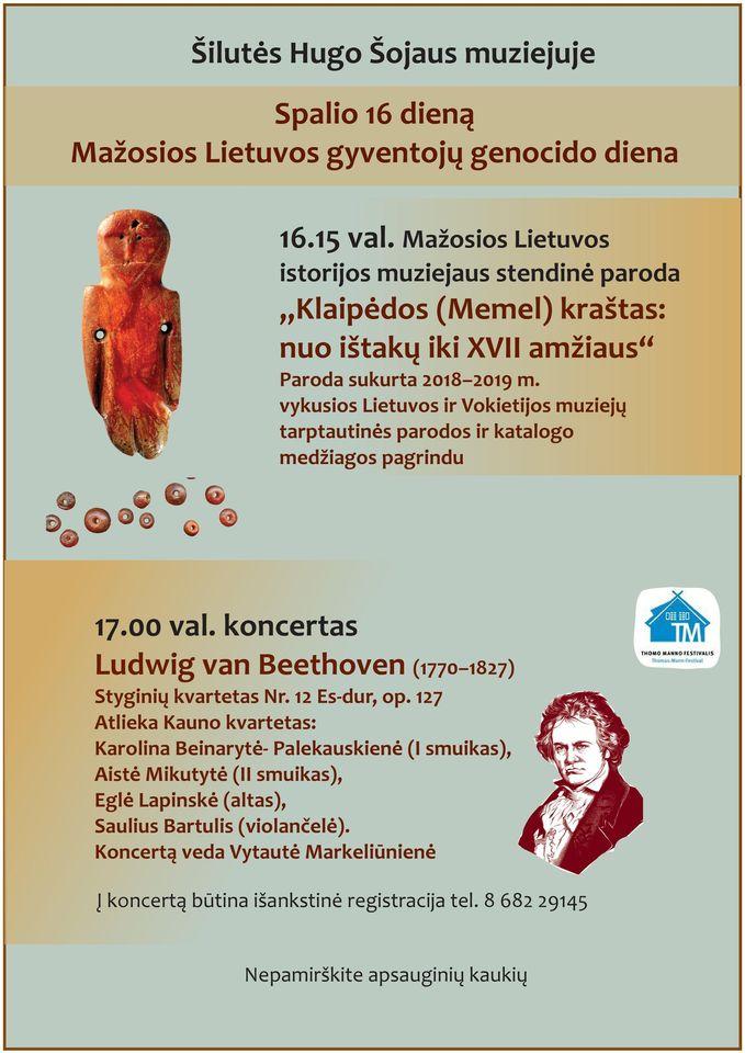 Šilutės Hugo Šojaus muziejuje minėsime Mažosios Lietuvos gyventojų genocido dieną