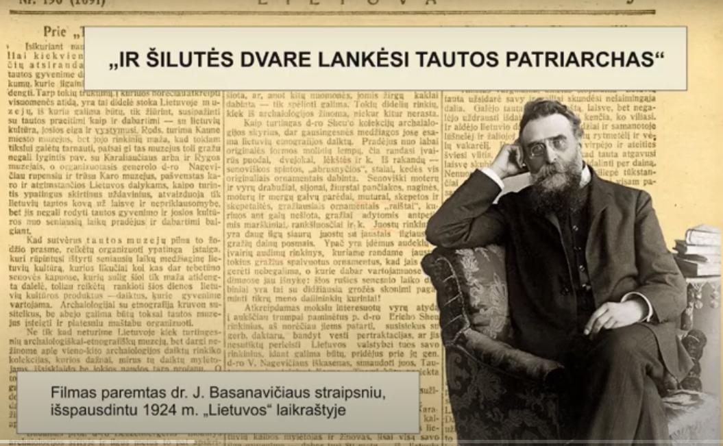 """Filmas """"IR ŠILUTĖS DVARE LANKĖSI TAUTOS PATRIARCHAS"""" skirtas Vasario 16-ajai paminėti"""