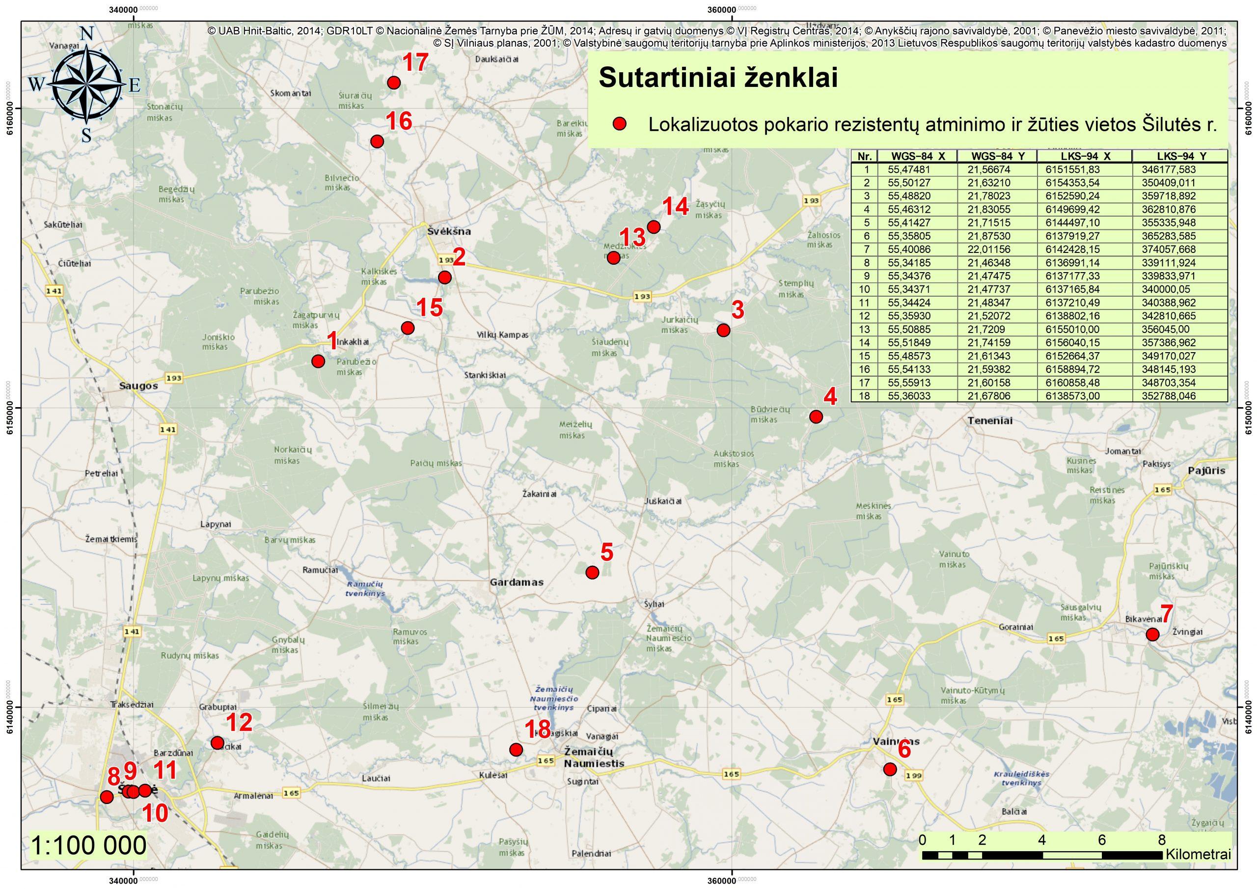 2021 m. Šilutės r., partizanų atminimo vietos GIS02